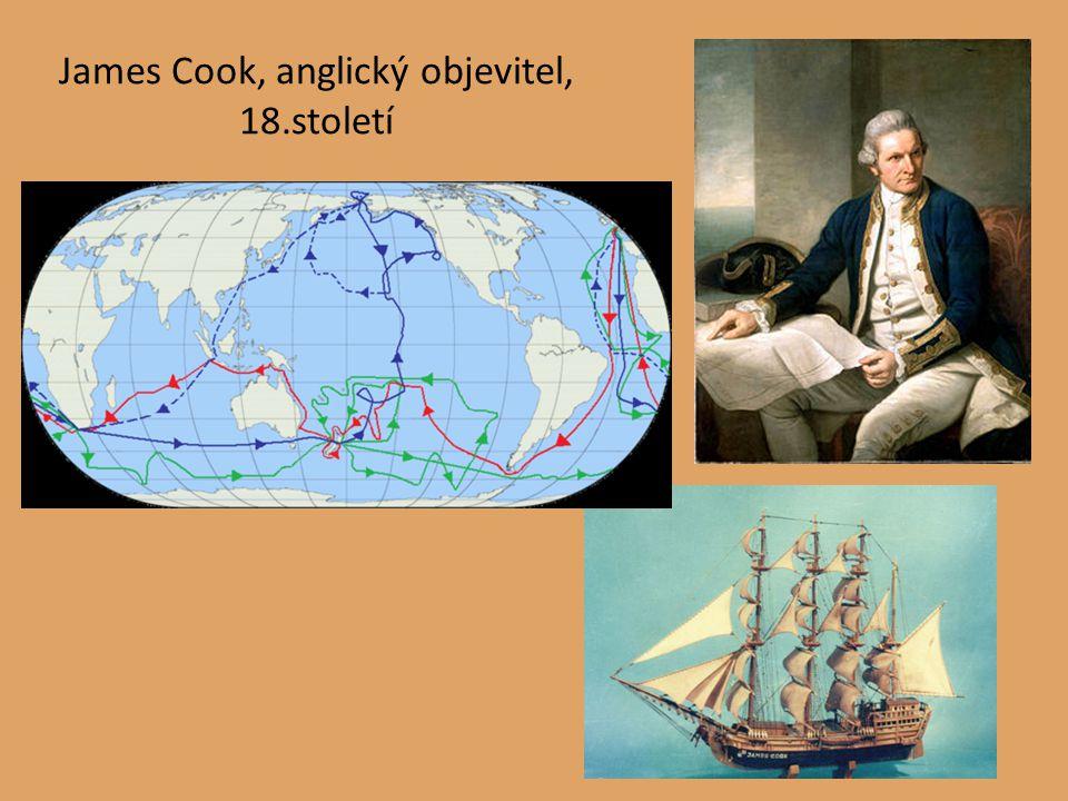 James Cook, anglický objevitel, 18.století