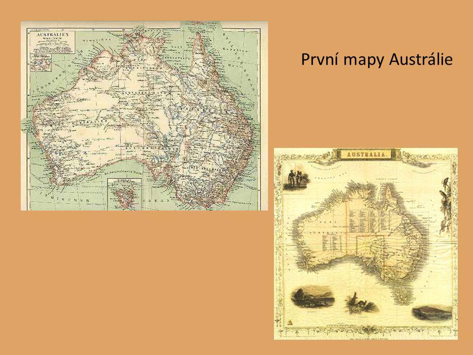 První mapy Austrálie