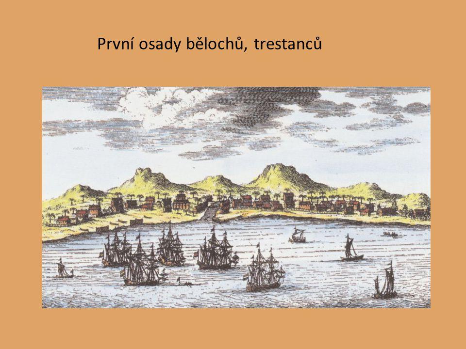 První osady bělochů, trestanců