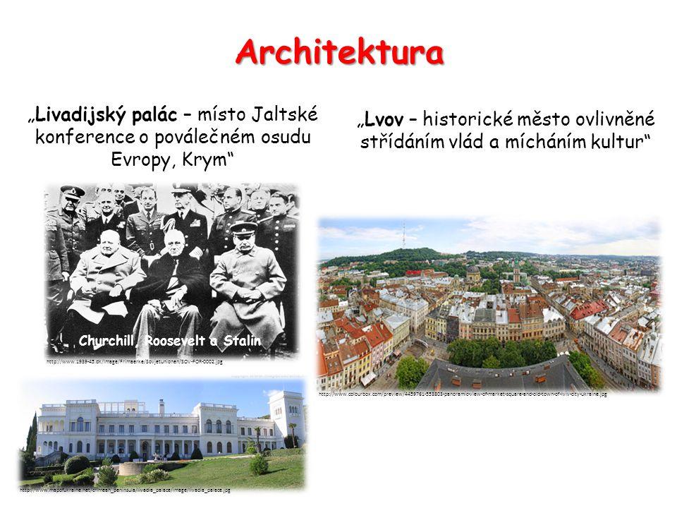"""Architektura """"Livadijský palác – místo Jaltské konference o poválečném osudu Evropy, Krym"""" http://www.mapofukraine.net/crimean_peninsula/livadia_palac"""