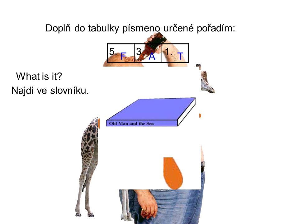 Doplň do tabulky písmeno určené pořadím: BEATI 1.2.3. 1.3. 1. FU UL What is it? Najdi ve slovníku.