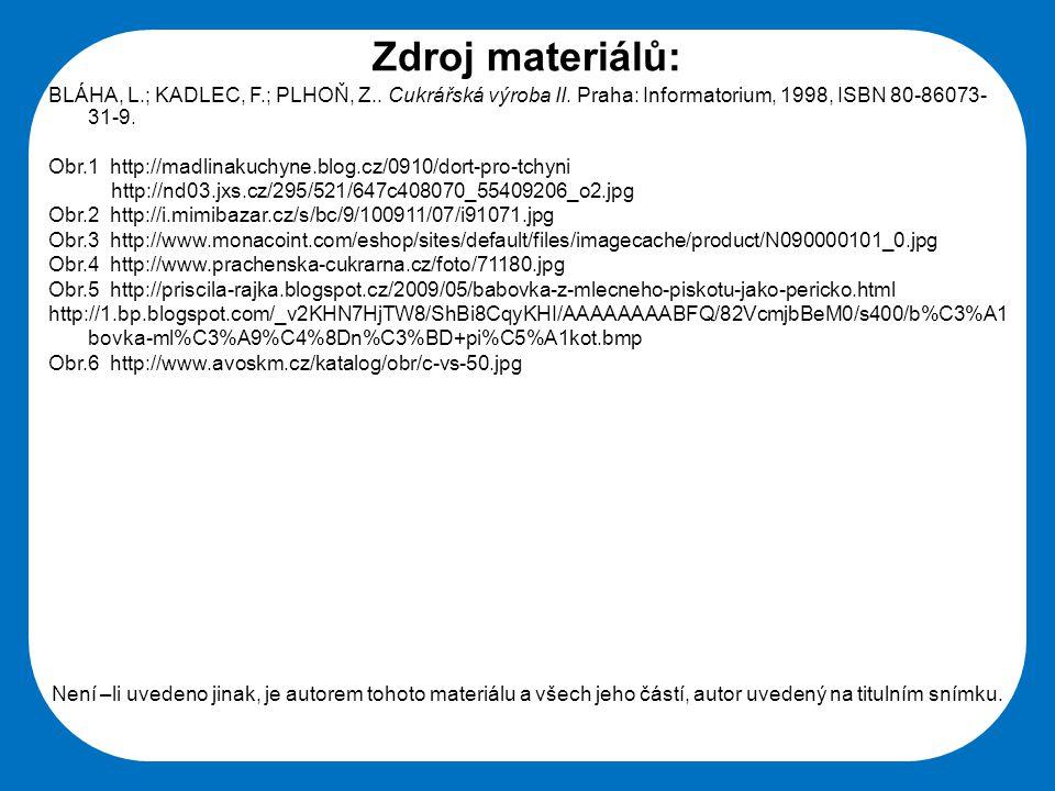 Střední škola Oselce Zdroj materiálů: BLÁHA, L.; KADLEC, F.; PLHOŇ, Z..