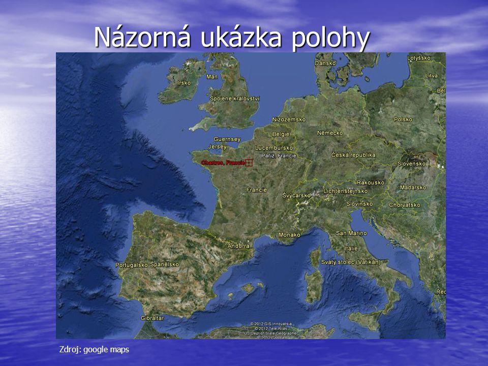 Názorná ukázka polohy Názorná ukázka polohy Názorná ukázka polohy Zdroj: google maps