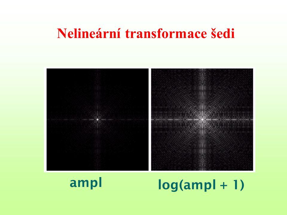 Nelineární transformace šedi ampl log(ampl + 1)