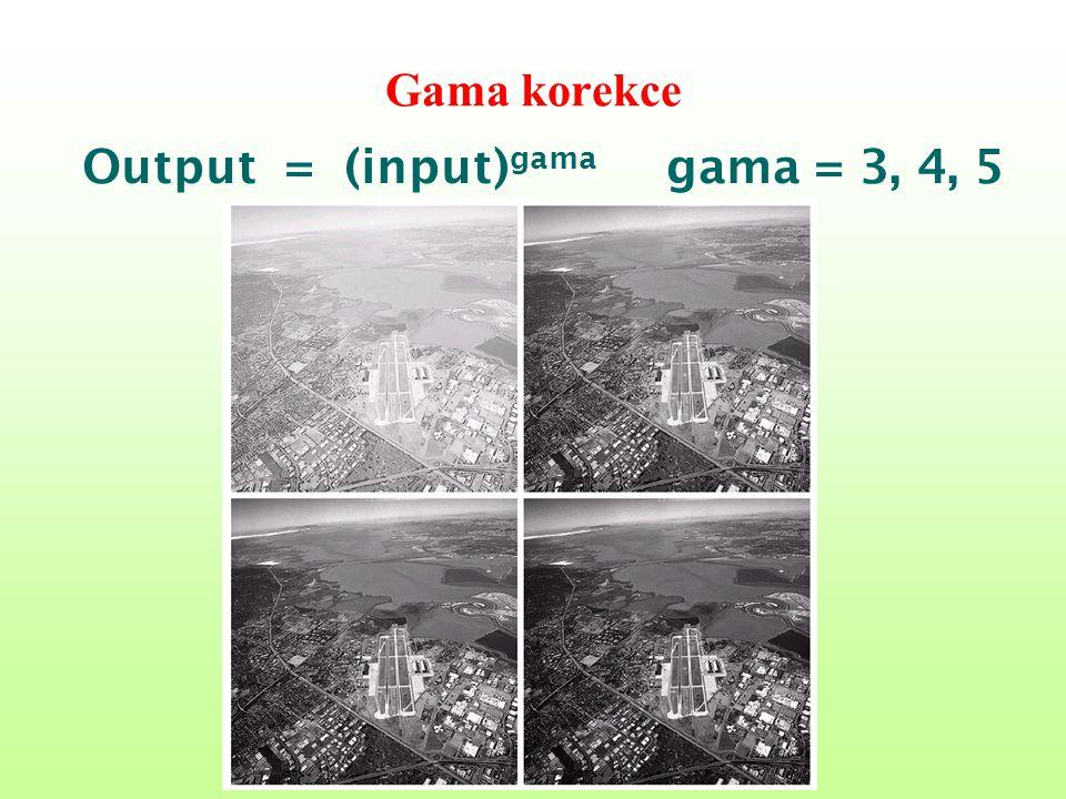 Gama korekce Output = (input) gama gama = 3, 4, 5