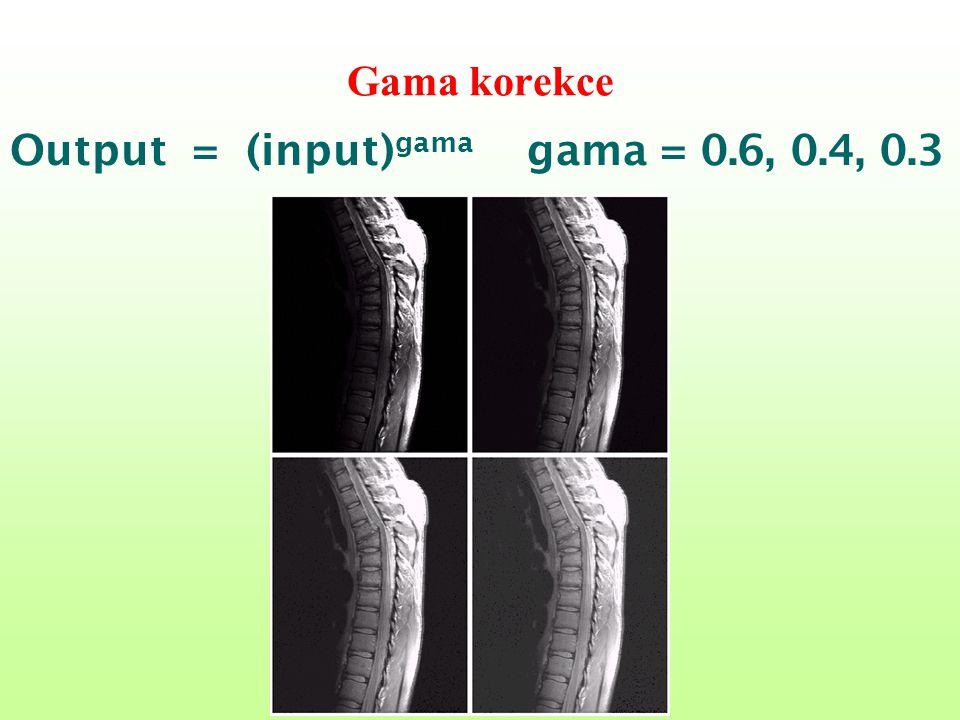 Gama korekce Output = (input) gama gama = 0.6, 0.4, 0.3