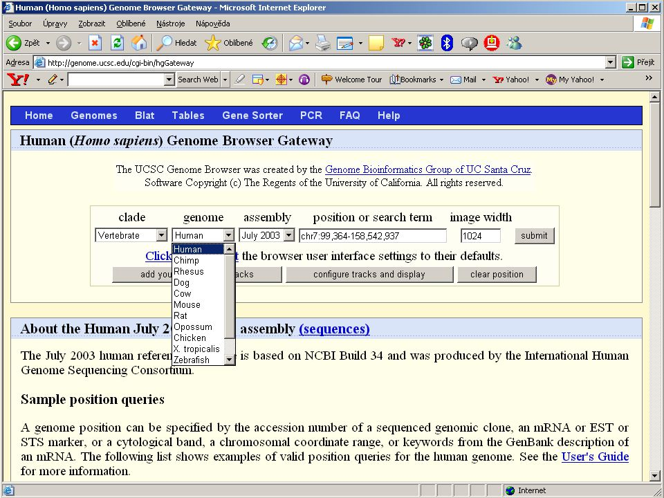 genome browser
