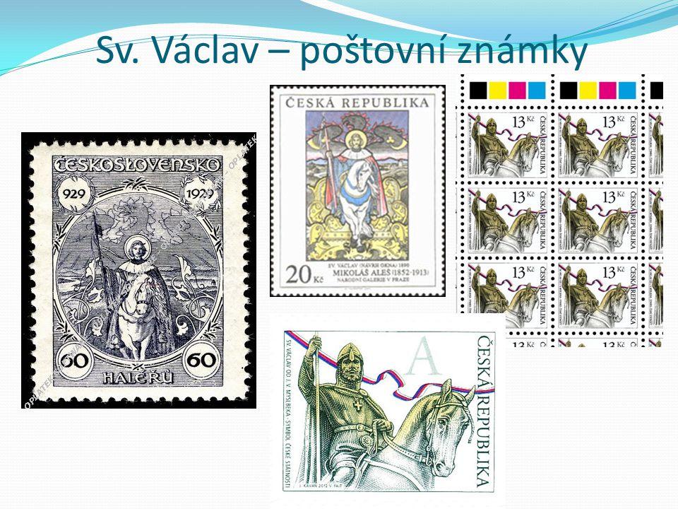 Sv. Václav – poštovní známky