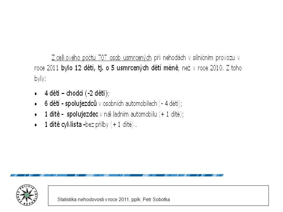 Statistika nehodovosti v roce 2011, pplk. Petr Sobotka