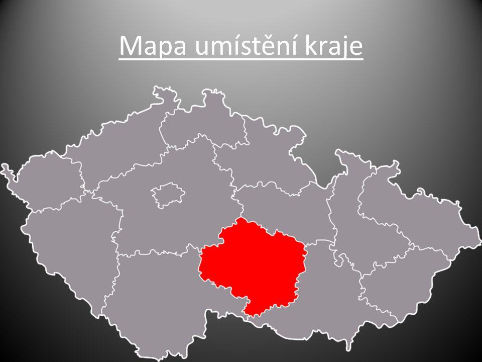 Mapa umístění kraje