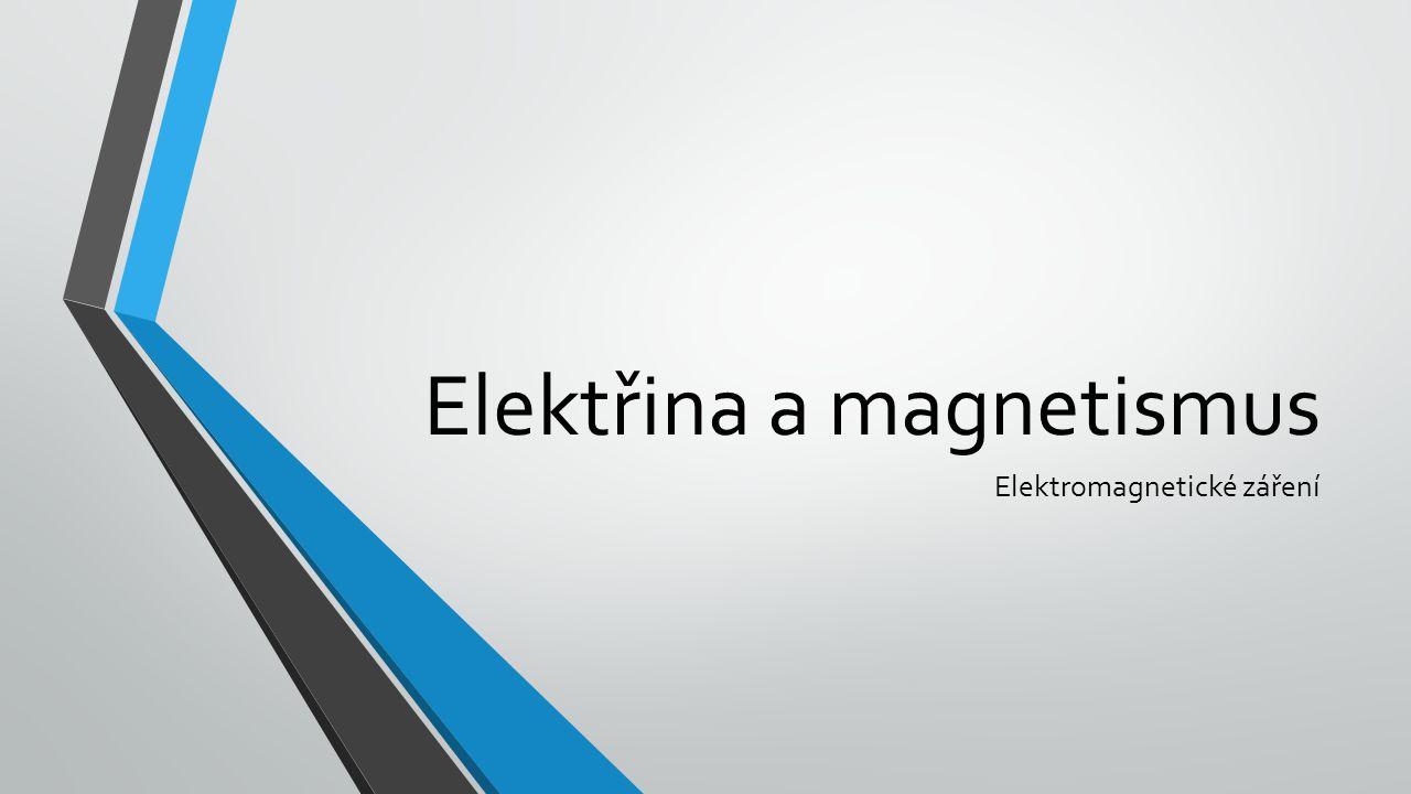 Elektřina a magnetismus Elektromagnetické záření