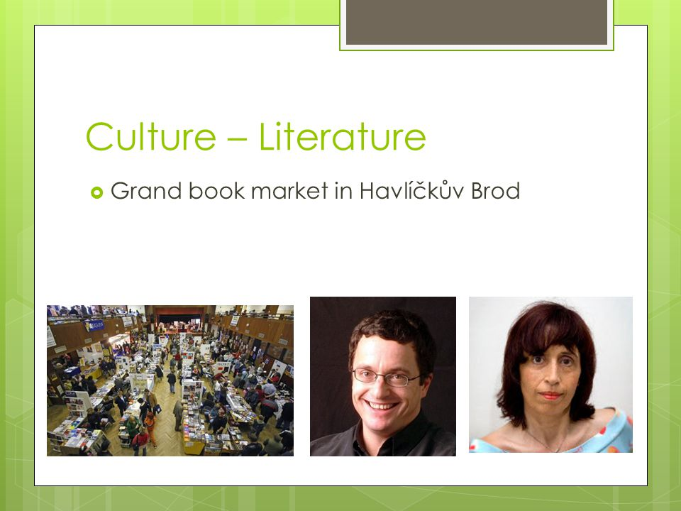 Culture – Literature  Grand book market in Havlíčkův Brod