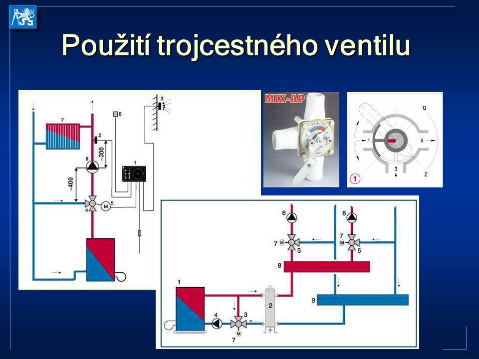 EEB1 2005-2006 Kabele Použití trojcestného ventilu