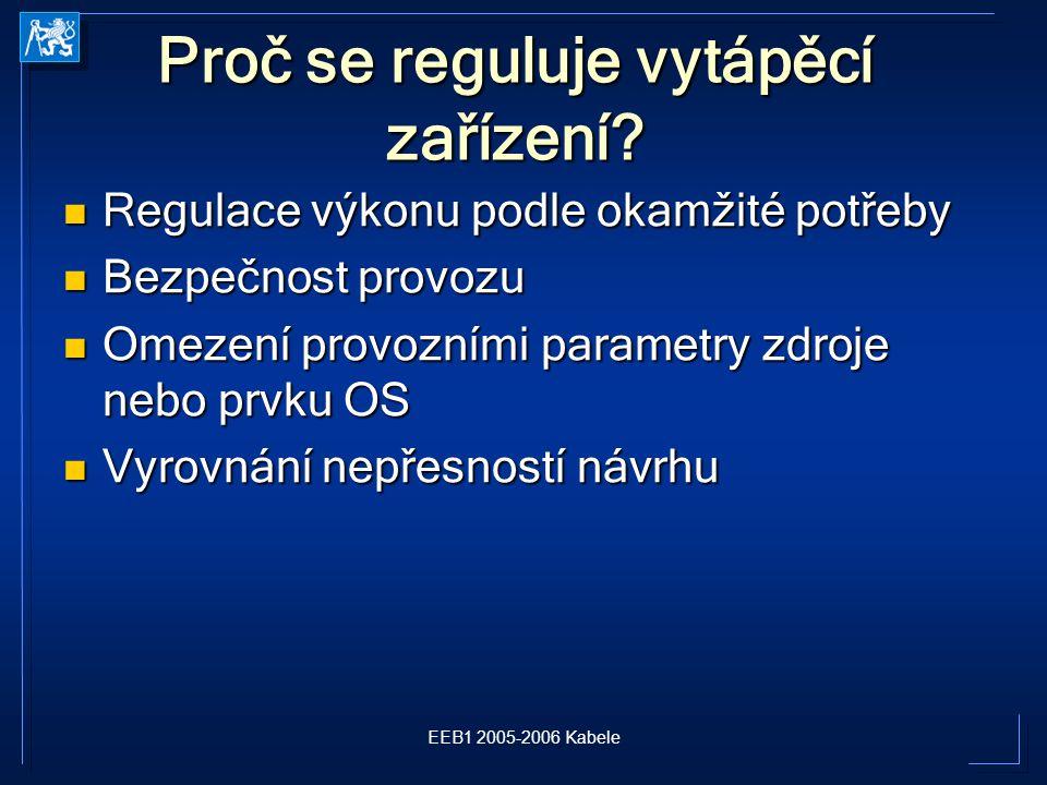 EEB1 2005-2006 Kabele Proč se reguluje vytápěcí zařízení.
