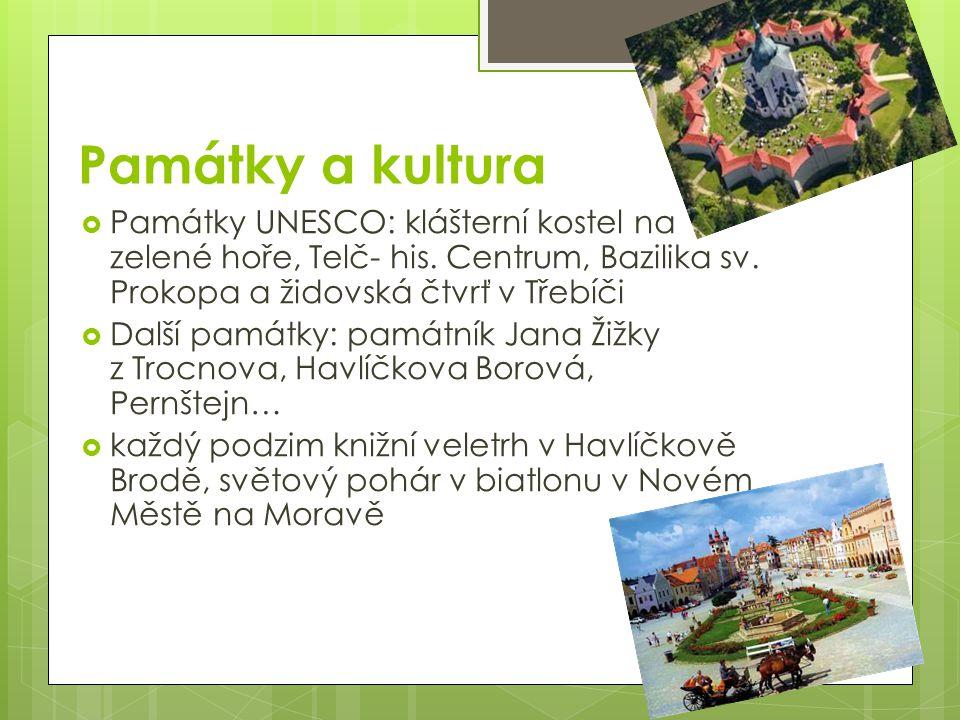 Památky a kultura  Památky UNESCO: klášterní kostel na zelené hoře, Telč- his.