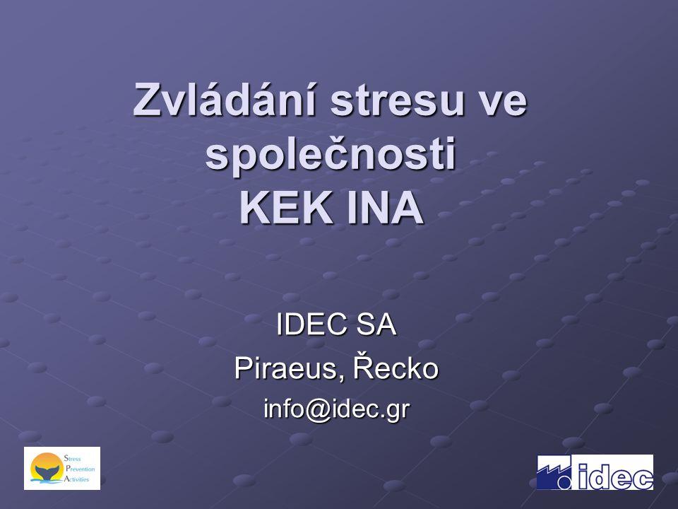 Zvládání stresu ve společnosti KEK INA IDEC SA Piraeus, Řecko info@idec.gr