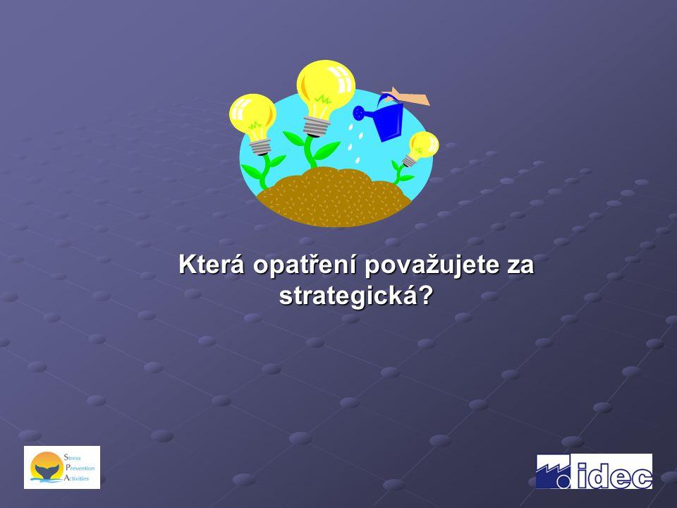 Která opatření považujete za strategická