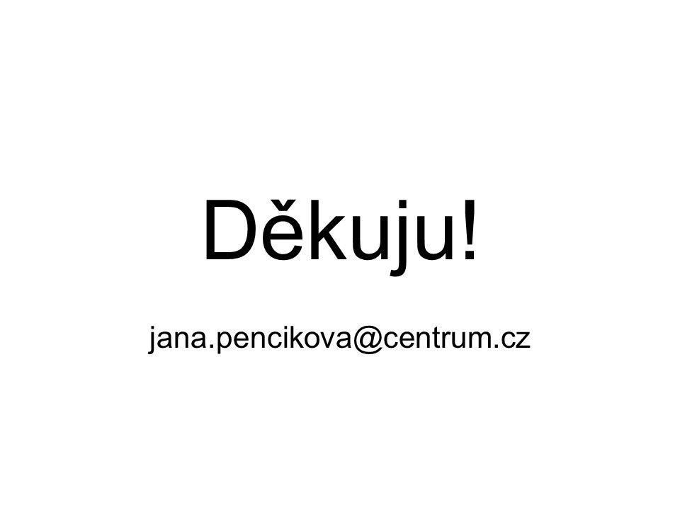 Děkuju! jana.pencikova@centrum.cz