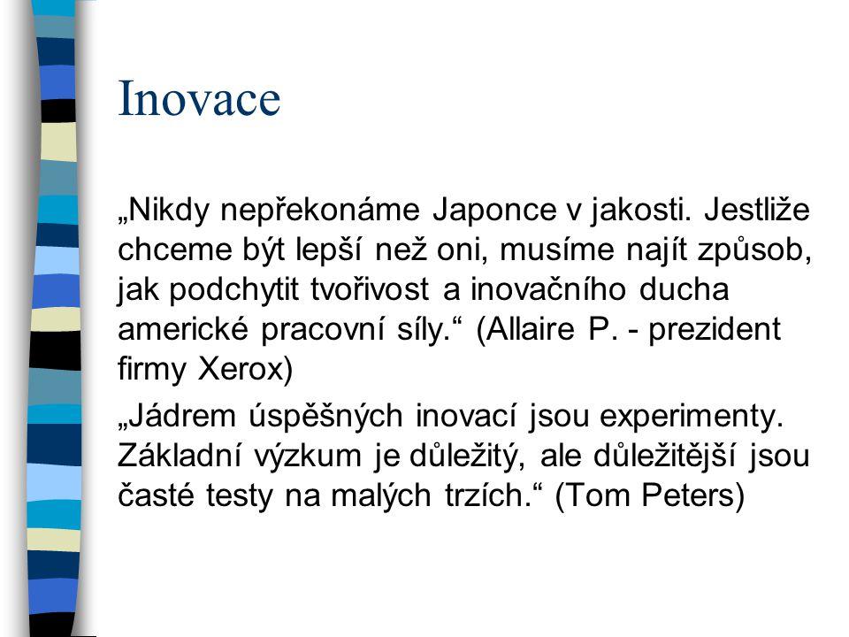 """Inovace """"Nikdy nepřekonáme Japonce v jakosti."""