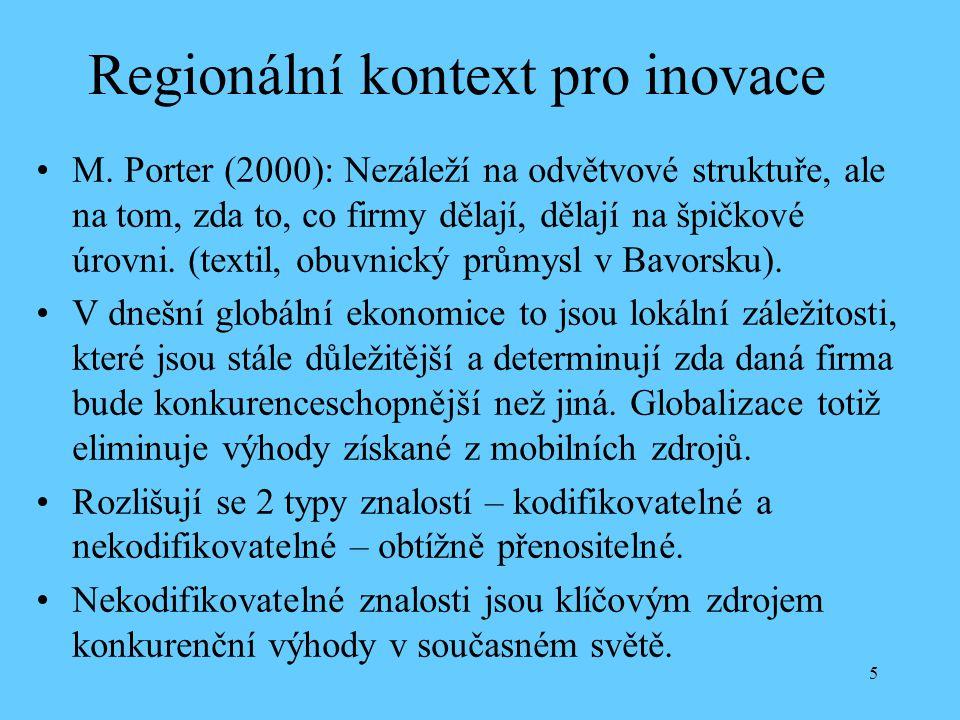 5 Regionální kontext pro inovace M.