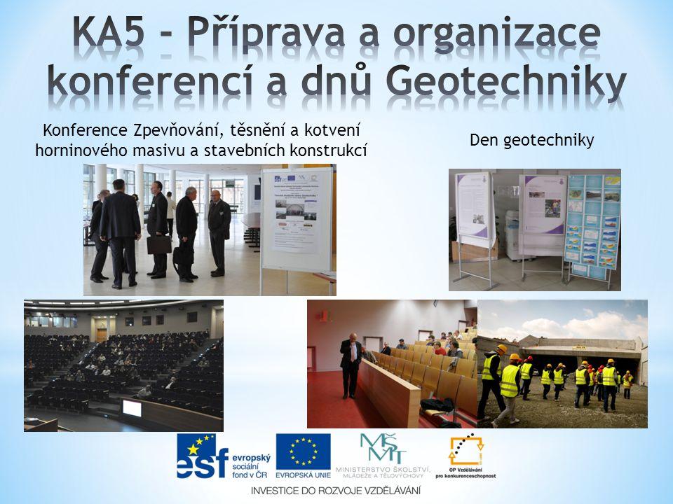Den geotechniky Konference Zpevňování, těsnění a kotvení horninového masivu a stavebních konstrukcí
