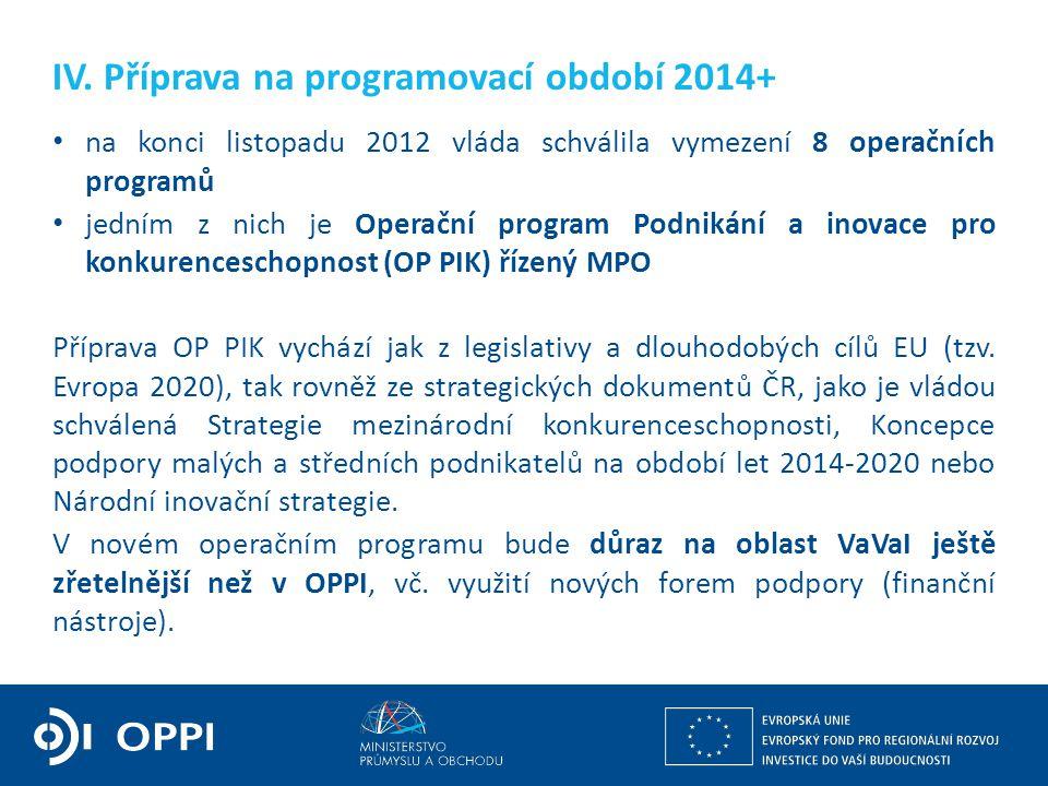 Ing. Martin Kocourek ministr průmyslu a obchodu ZPĚT NA VRCHOL – INSTITUCE, INOVACE A INFRASTRUKTURA IV. Příprava na programovací období 2014+ na konc