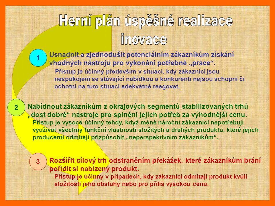 """1 2 3 Usnadnit a zjednodušit potenciálním zákazníkům získání vhodných nástrojů pro vykonání potřebné """"práce"""". Přístup je účinný především v situaci, k"""