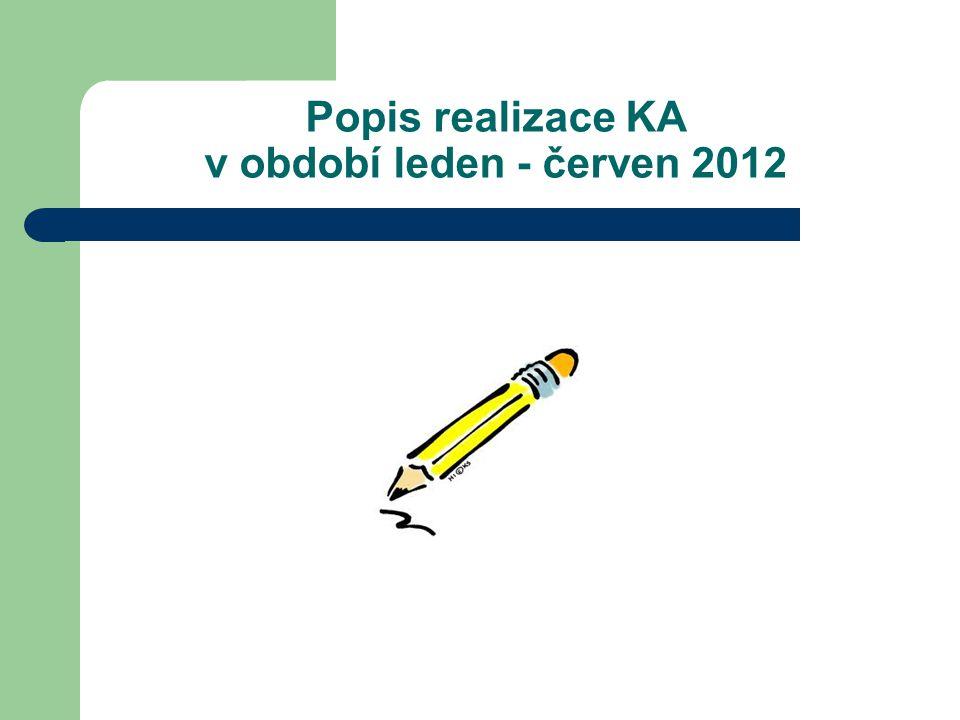 Popis realizace KA v období leden - červen 2012