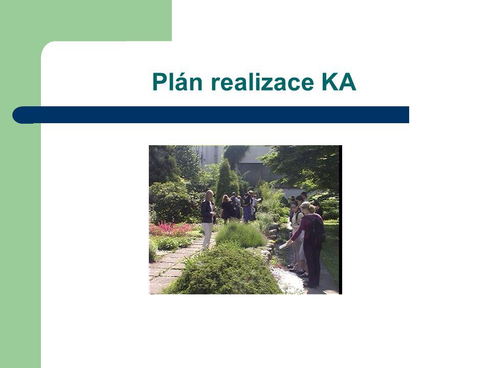 Plán realizace KA