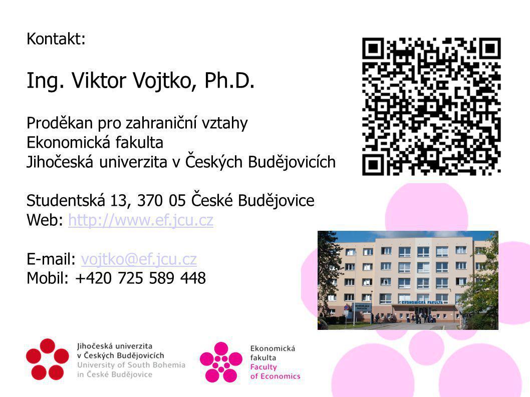 Kontakt: Ing. Viktor Vojtko, Ph.D.