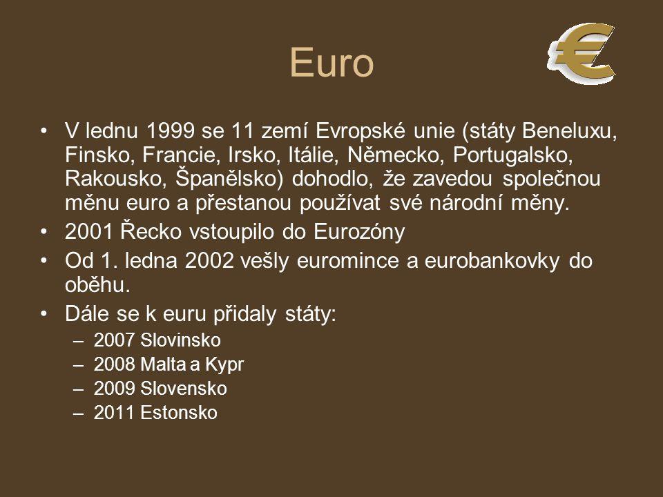 Euro V lednu 1999 se 11 zemí Evropské unie (státy Beneluxu, Finsko, Francie, Irsko, Itálie, Německo, Portugalsko, Rakousko, Španělsko) dohodlo, že zav