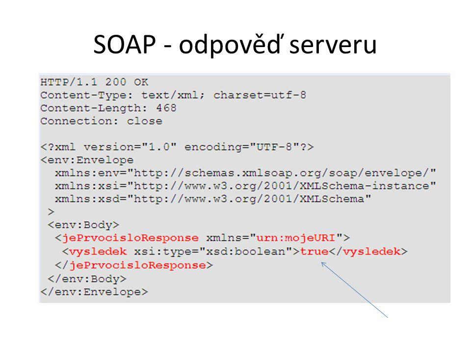 SOAP - odpověď serveru
