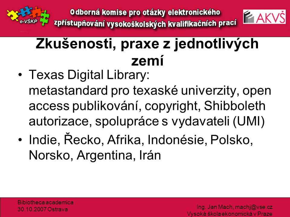 Bibiotheca academica 30.10.2007 Ostrava Ing.