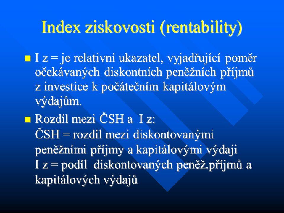 Interpretace ČSH ČSH je větší než 0 (tj.