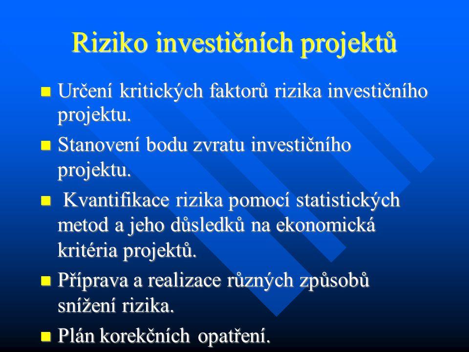 Podnikatelské riziko 1 Podnikatelské riziko = nebezpečí, že dosažené výsledky podnikání se budou odchylovat od výsledků předpokládaných.