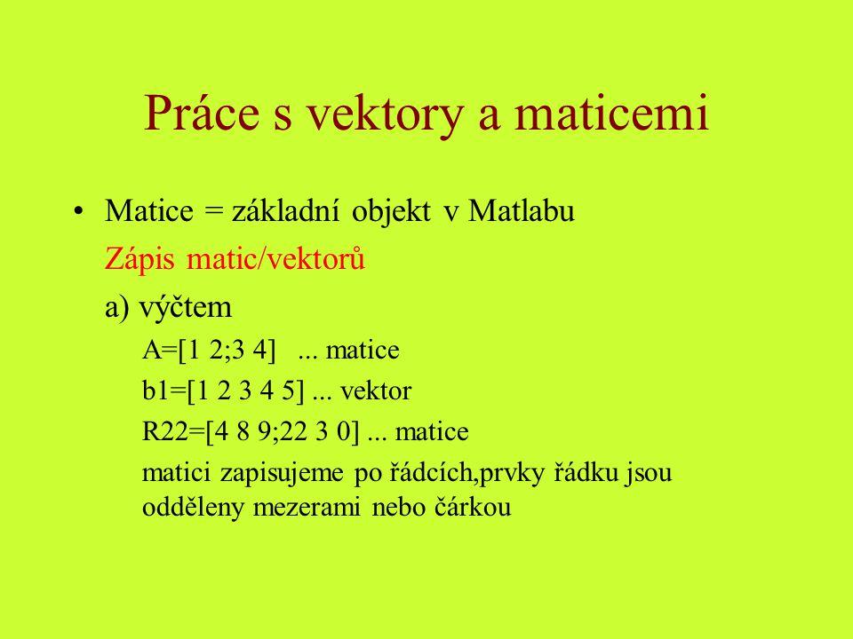 b) intervalem osat=0:2*pi/20:2*pi Tvar intervalu: startovací prvek:krok:konečný prvek startovací prvek:konečný prvek .