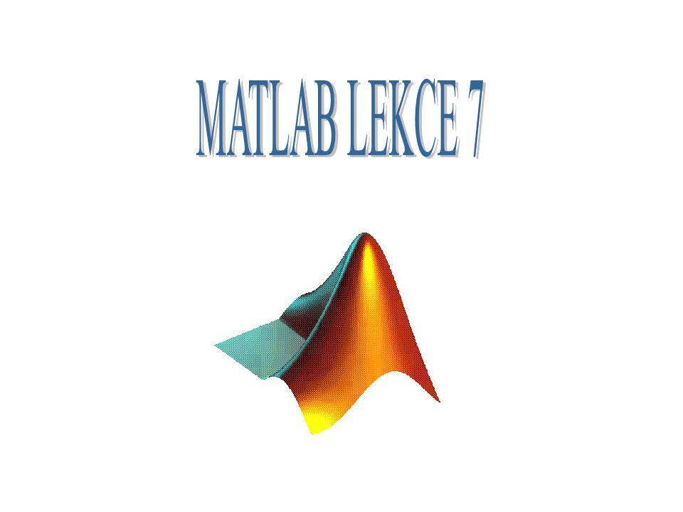 ZÁKLADNÍ OPERACE S MATICEMI C=A+B SOUČET MATIC, JSOU SČÍTÁNY STEJNOLEHLÉ PRVKY MATIC A+B D=A-B ROZDÍL MATIC, STEJNOLEHLÉ PRVKY MATIC A a B JSOU ODEČTENY E=A*B SOUČIN MATIC, KLASICKÉ NÁSOBENÍ MATIC A a B F=A.*B JSOU NÁSOBENY STEJNOLEHLÉ PRVKY MATIC A a B G=A/B DĚLENÍ MATIC ZPRAVA, PLATÍ TAKÉ A/B=A*inv(B) H=A./B PODÍL STEJNOLEHLÝCH PRVKŮ MATIC A a B I=A\B DĚLENÍ MATIC ZLEVA, PLATÍ TAKÉ A\B=inv(A)*B J=A.\B PODÍL STEJNOLEHLÝCH PRVKŮ MATIC B a A