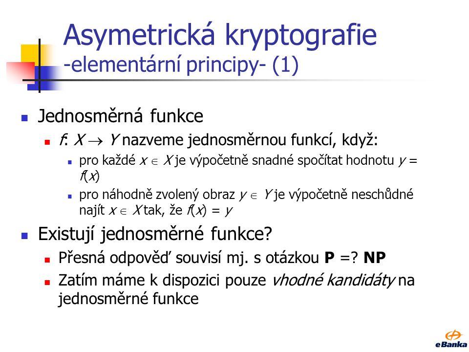 11 Kryptografické systémy vs. problémy RSA: faktorizace, neprokázáno DSA: DLP, neprokázáno ECDSA: ECDLP, neprokázáno D–H protokol: (EC)DLP, neprokázán