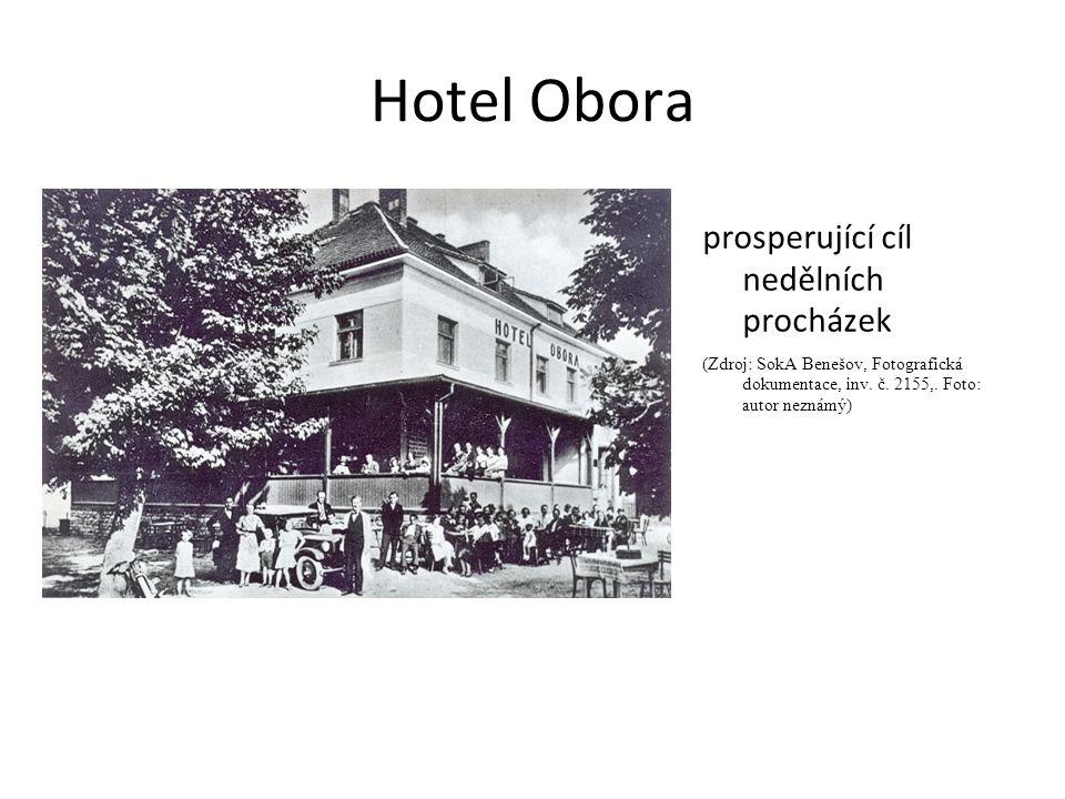 Hotel Obora prosperující cíl nedělních procházek (Zdroj: SokA Benešov, Fotografická dokumentace, inv.