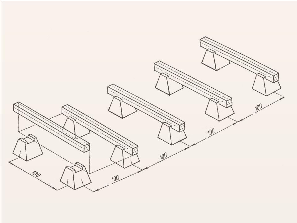 Volný vzdušný prostor pod hrání je podmínkou dobré výměny vzduchu v hráni Řezivo se klade do vodorovných vrstev PRAVOU STRANOU NAHORU Jednotlivé vrstvy se oddělují proklady, jsou to latě o tloušťce 18 až 24 mm a šířce 40 až 60 mm