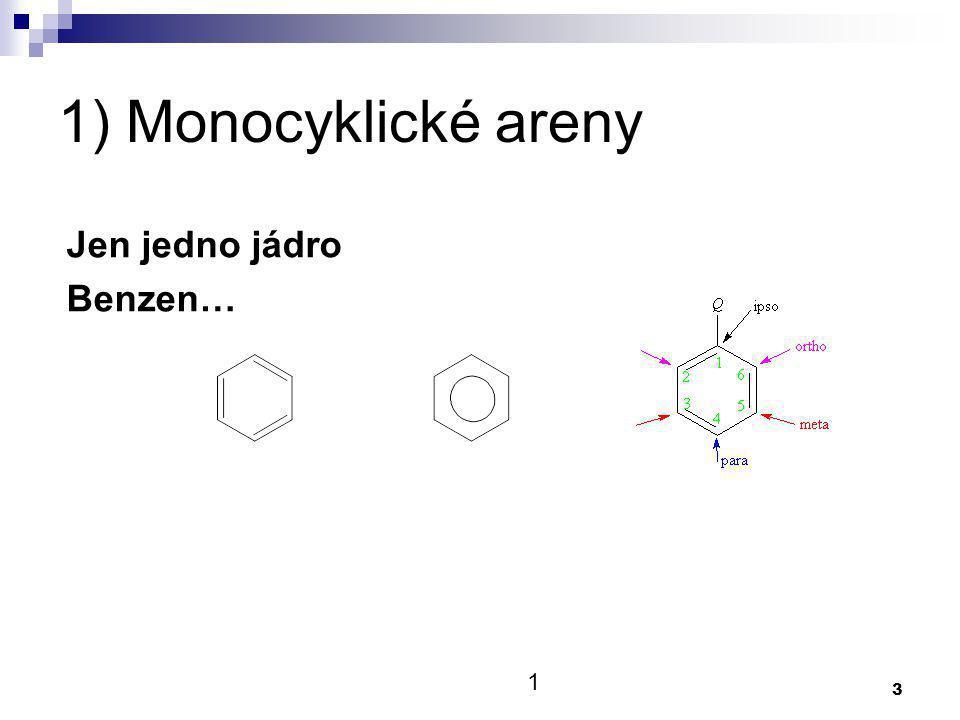 4 2) Polycyklické areny A) Kondenzovaná jádra - přímo na sebe naftalen B) Izolovaná jádra - odděleno vazbou bifenyl 1 3 2 4 5 6 1´ 1 3´ 4´ 2´ 5´ 6´
