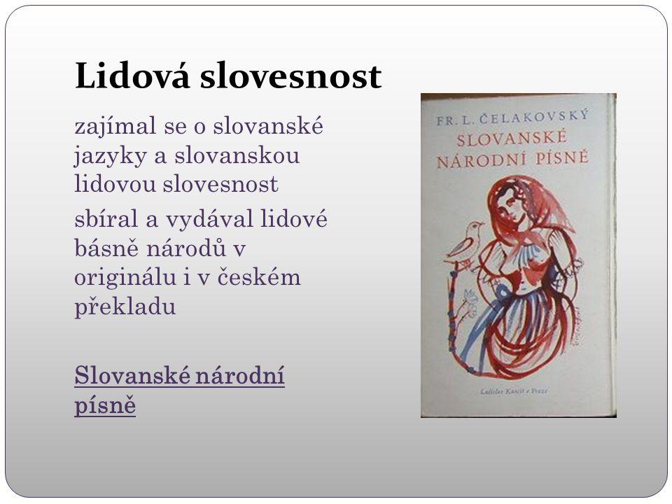 """Lidová slovesnost Mudrosloví národa slovanského v příslovích sbírka slovanských přísloví 15 000 záznamů Můžeme si knížku """"prohlédnout : http://books.google.cz/books?id=y6IKAAAAIAAJ&pri ntsec=frontcover&hl=cs#v=onepage&q&f=false"""