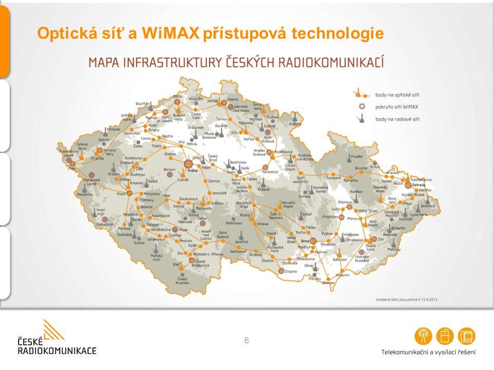 Optická síť a WiMAX přístupová technologie 6