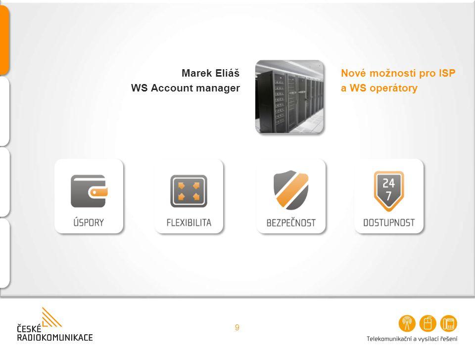 Nové možnosti pro ISP a WS operátory Marek Eliáš WS Account manager 9