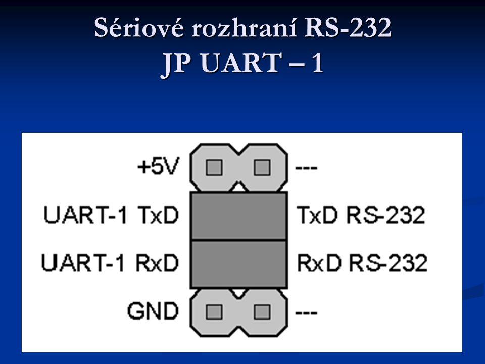 Sériové rozhraní RS-232 JP UART – 1