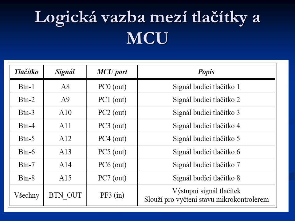 Logická vazba mezí tlačítky a MCU