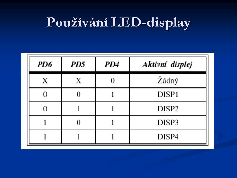 Používání LED-display