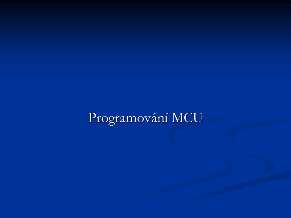 Programování MCU