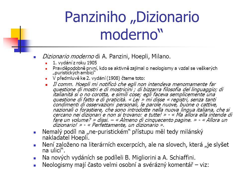 "Panziniho ""Dizionario moderno Dizionario moderno di A."