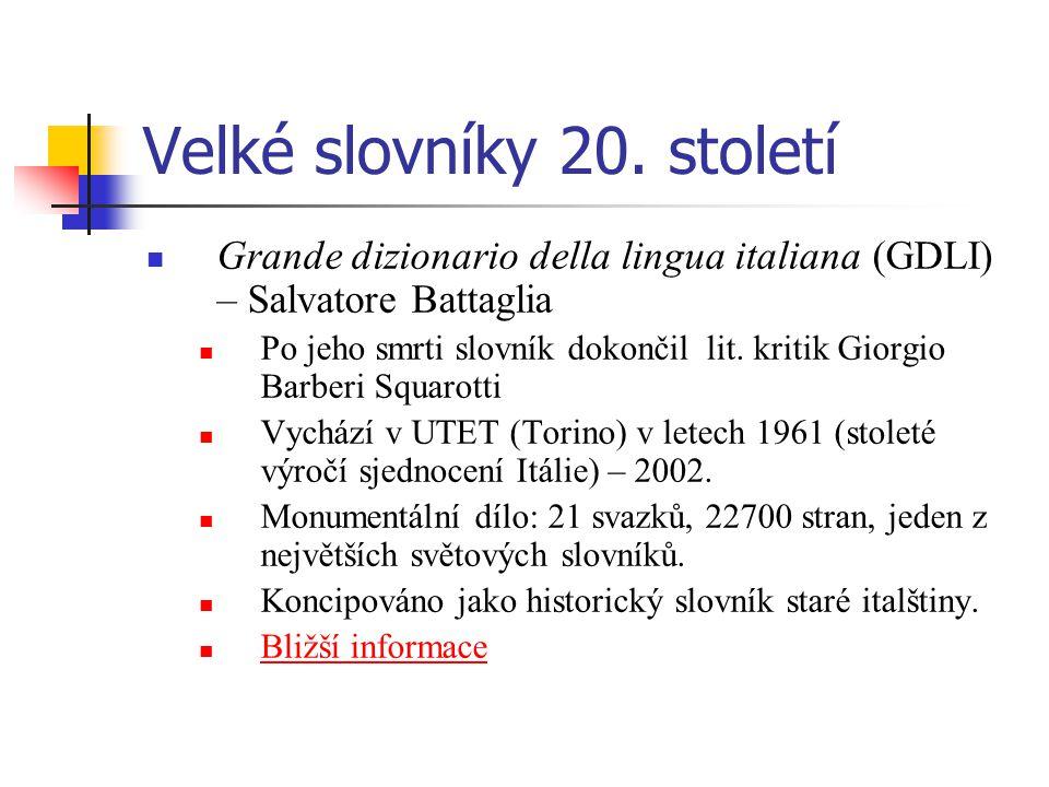 Velké slovníky 20.